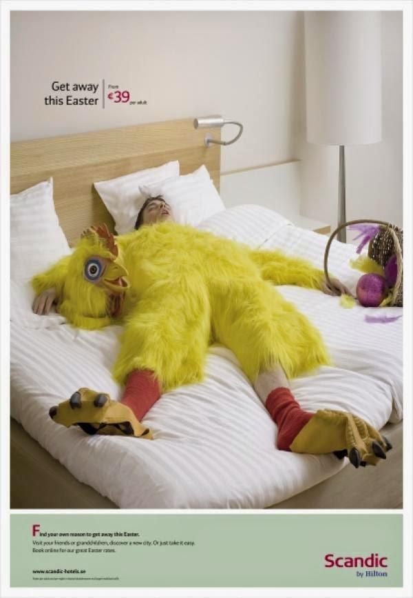 Publicidad Creativa, Pascua. Scandic, Hilton