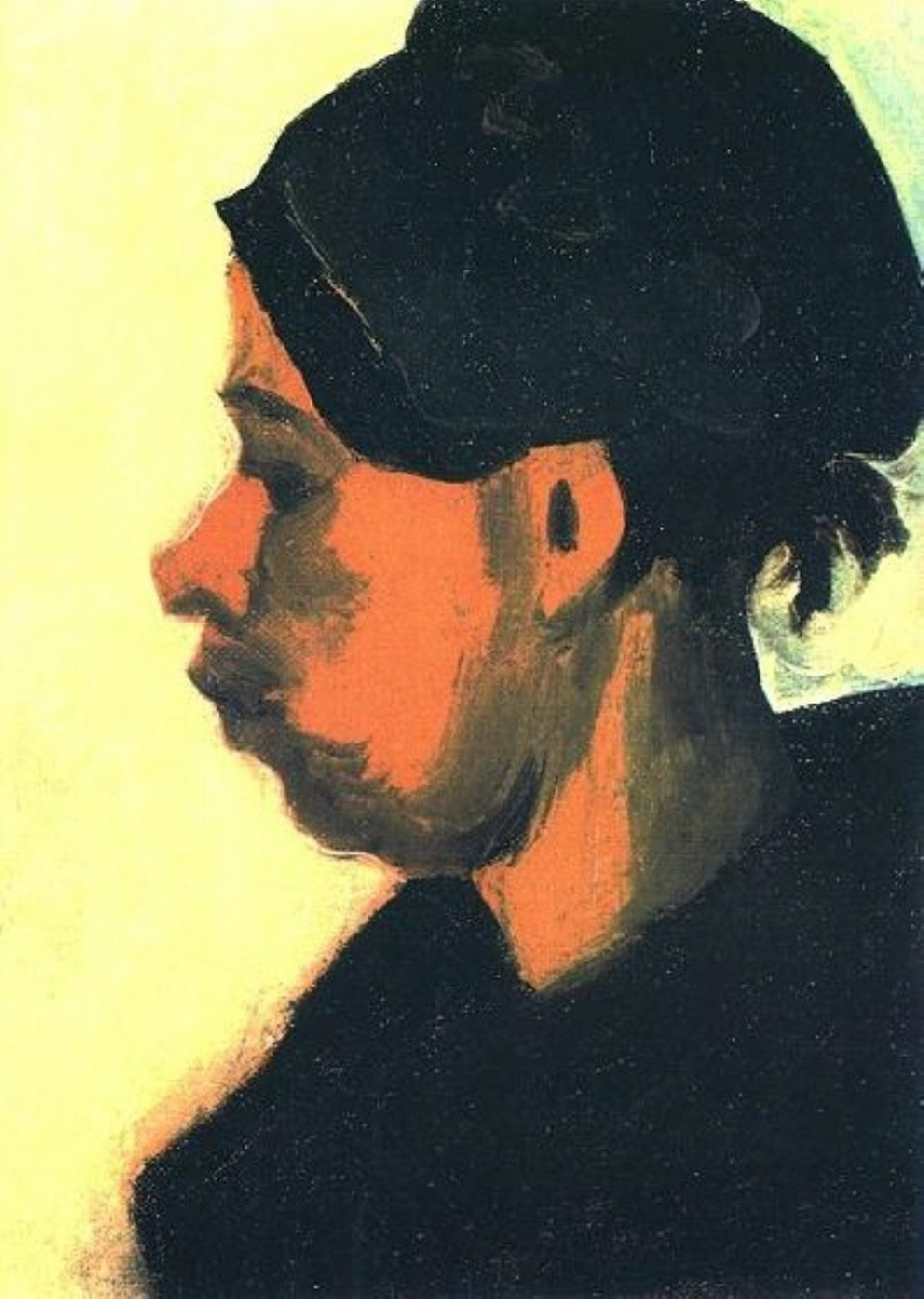 Head of a Peasant Woman with Dark Cap (F 153a, JH 586) by Vincent van Gogh