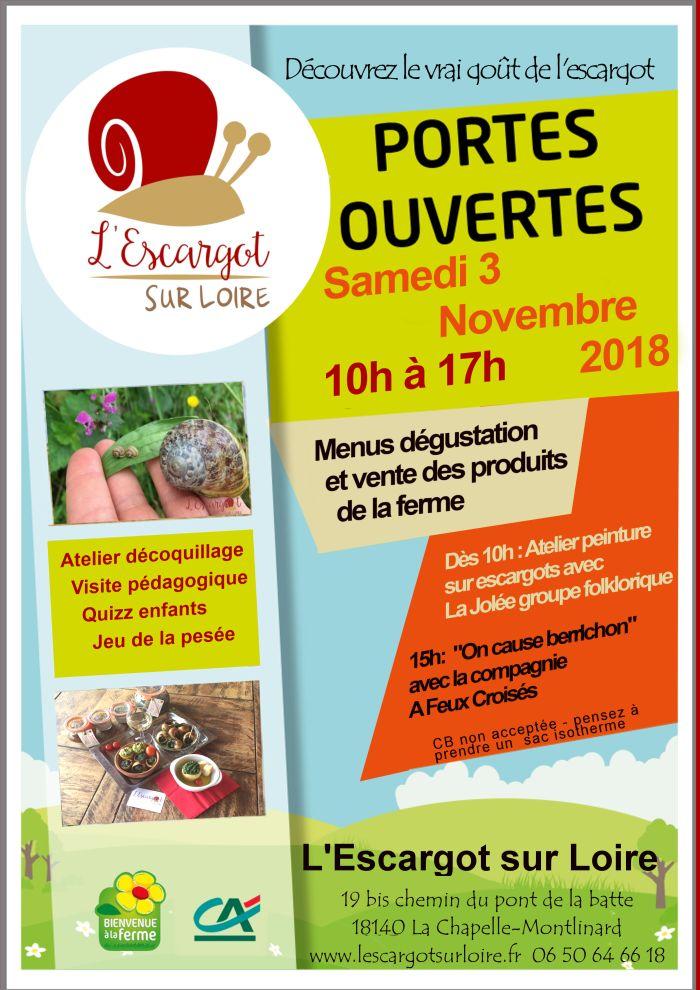 Découvrez le vrai goût de l'escargot  le 03 novembre de 10h à 17h à La Chapelle- Montlinard