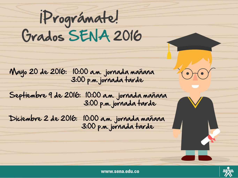 Prográmate Grados SENA 2016