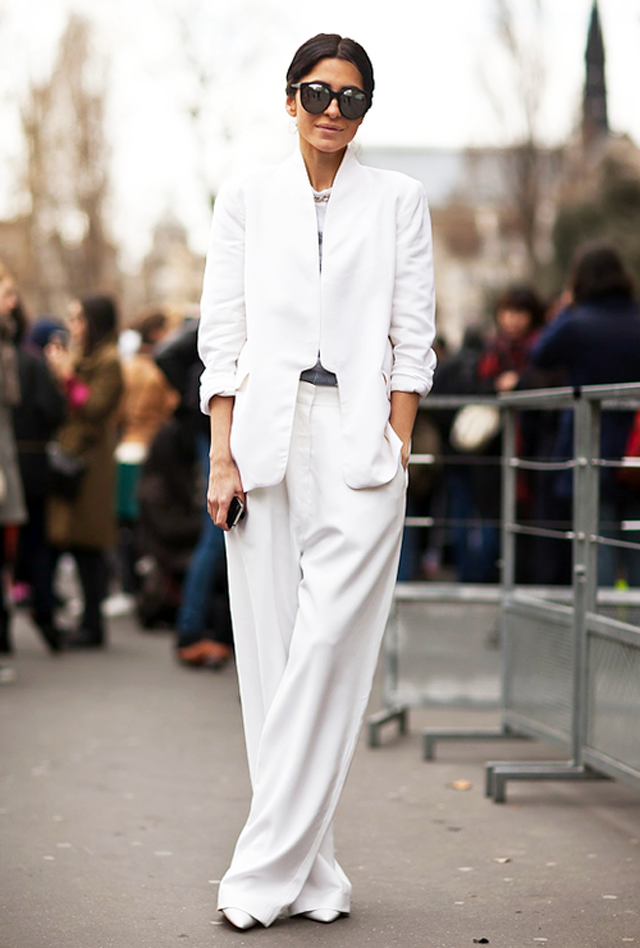 Street Style Inspiration All White Outfits Oh My Blog