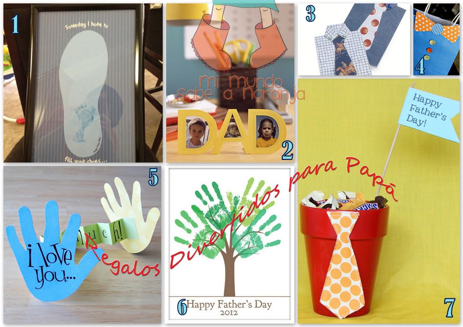 Mi mundo sabe a naranja diy ideas para el d a del padre - Ideas regalos para padres ...