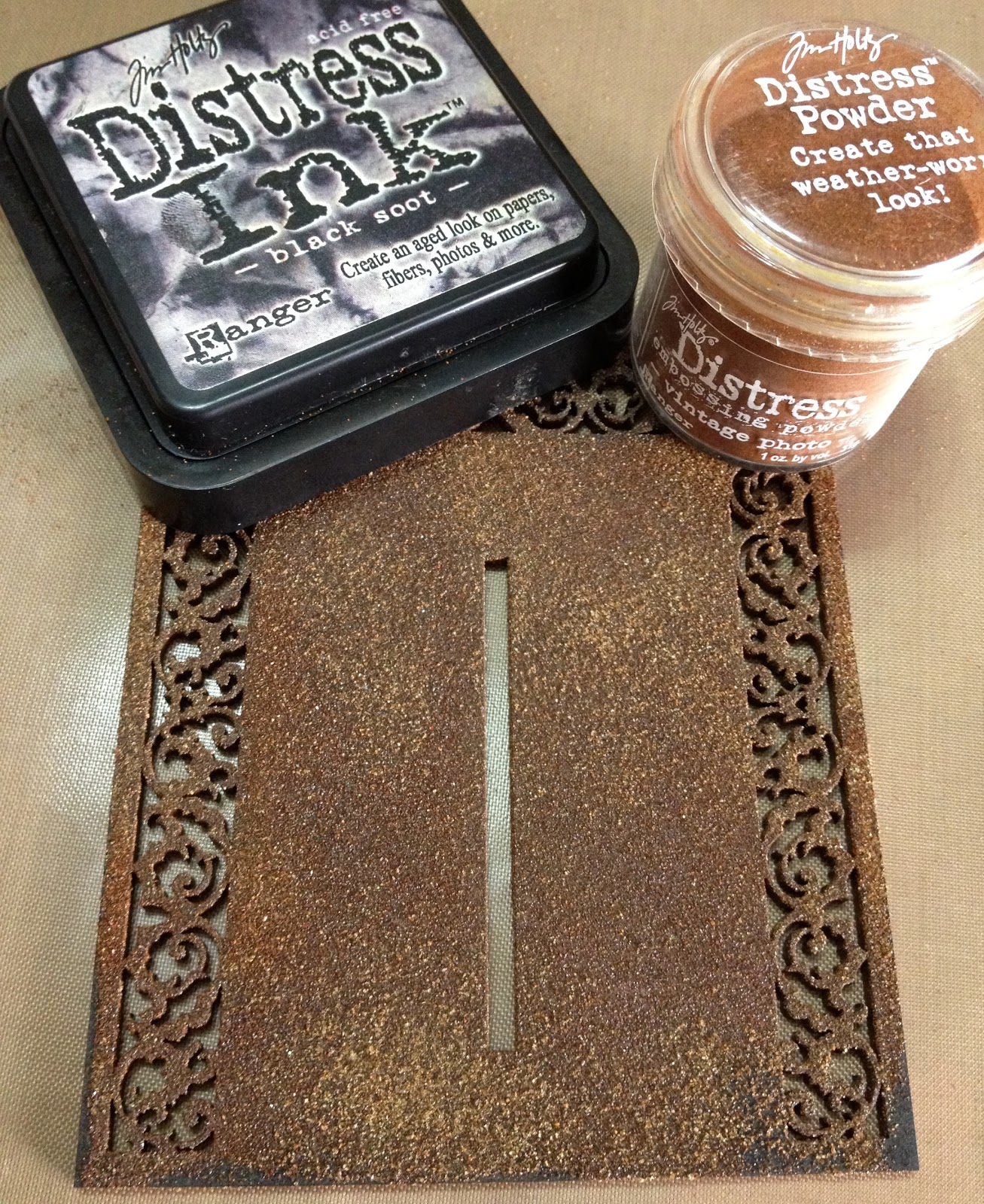 tracey shenton distress embossing powder