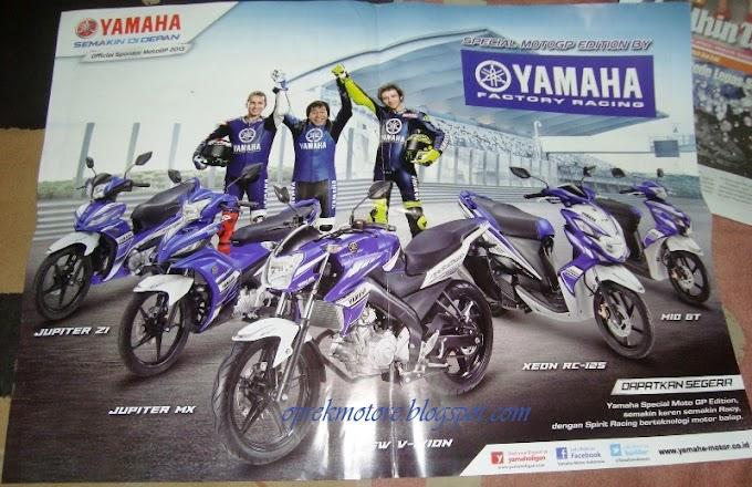 Bonus Poster Yamaha Special MotoGP Edition di Tabloid MotorPlus