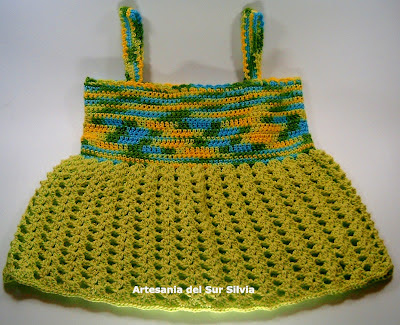 vestido de nia hecho a ganchillo crochet 
