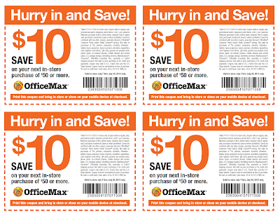 office max just released a 10 off a 50 purchase printable coupon for you to use this might come in handy because the school supplies will soon be going