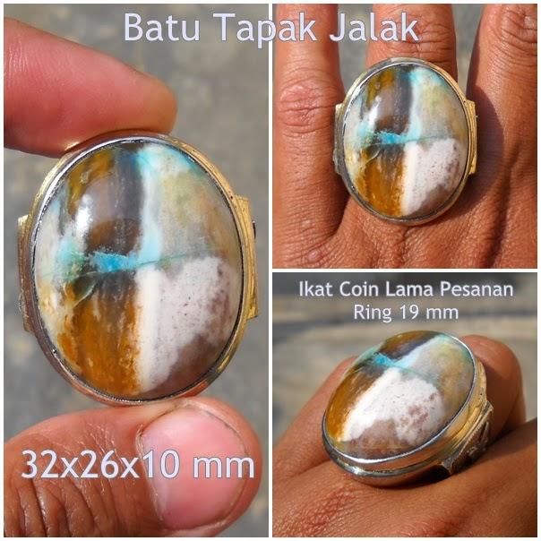 AG201- SOLD- Batu Garut Pancawarna Motif Tapak Jalak - Antik !!!