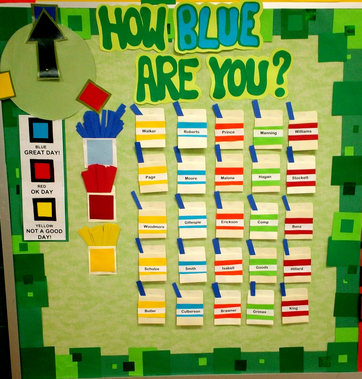 Good Behavior Bulletin Board Ideas http://artwithmre.blogspot.com/2011/08/art-room-bulletin-boards-displays-2011_12.html