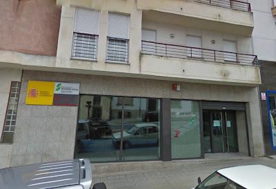 Fachada de las oficinas de la Seguridad Social en Béjar
