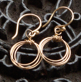 Bespangled Jewelry Signature Wire Hoops, Small size, available in gold or silver