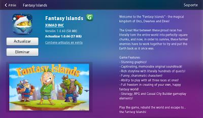 Fantasy Islands se ha actualizado a la versión 1.0.66. Bienvenido a las Islas de la fantasia: el reino mágico de Orcos, Enanos y Elfos. Un juego similar a lo que es WarCraft La Gran Guerra entre estas razas orgullosas, literalmente, ha roto todo el mundo en pedazos perfectamente cuadradas, y ahora, con el fin de sobrevivir, estos antiguos enemigos tienen que trabajar juntos para tratar de poner la tierra de nuevo como lo era antes. CARACTERISTICAS: Impresionantes gráficos Cautivante, banda sonora original memorable Rica historia con cientos de misiones Personajes divertidos y carismáticos Posibilidad de jugar con los tres La