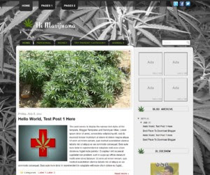 Hi Marijuana Blogger Template