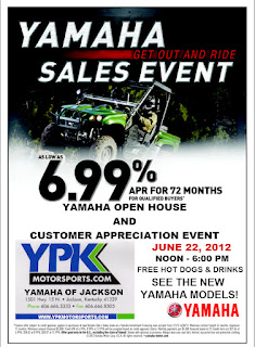yamaha open house event, yamaha deal, yamaha promotion, yamaha sales event, yamaha dealer kentucky, ky yamaha dealer