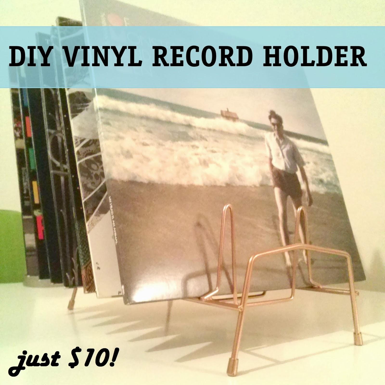 Diy Vinyl Book Cover : The lovely side diy quickie copper vinyl record holder