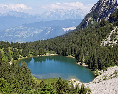 Picture of Bénit lake in the french Alps
