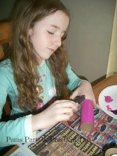 Painting Cardboard Flowers, Painting Cardboard Tubes