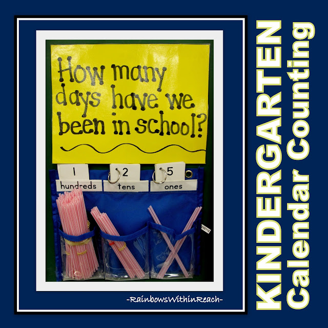 photo of: Counting the Days in School System (with straws) via RainbowsWithinReach