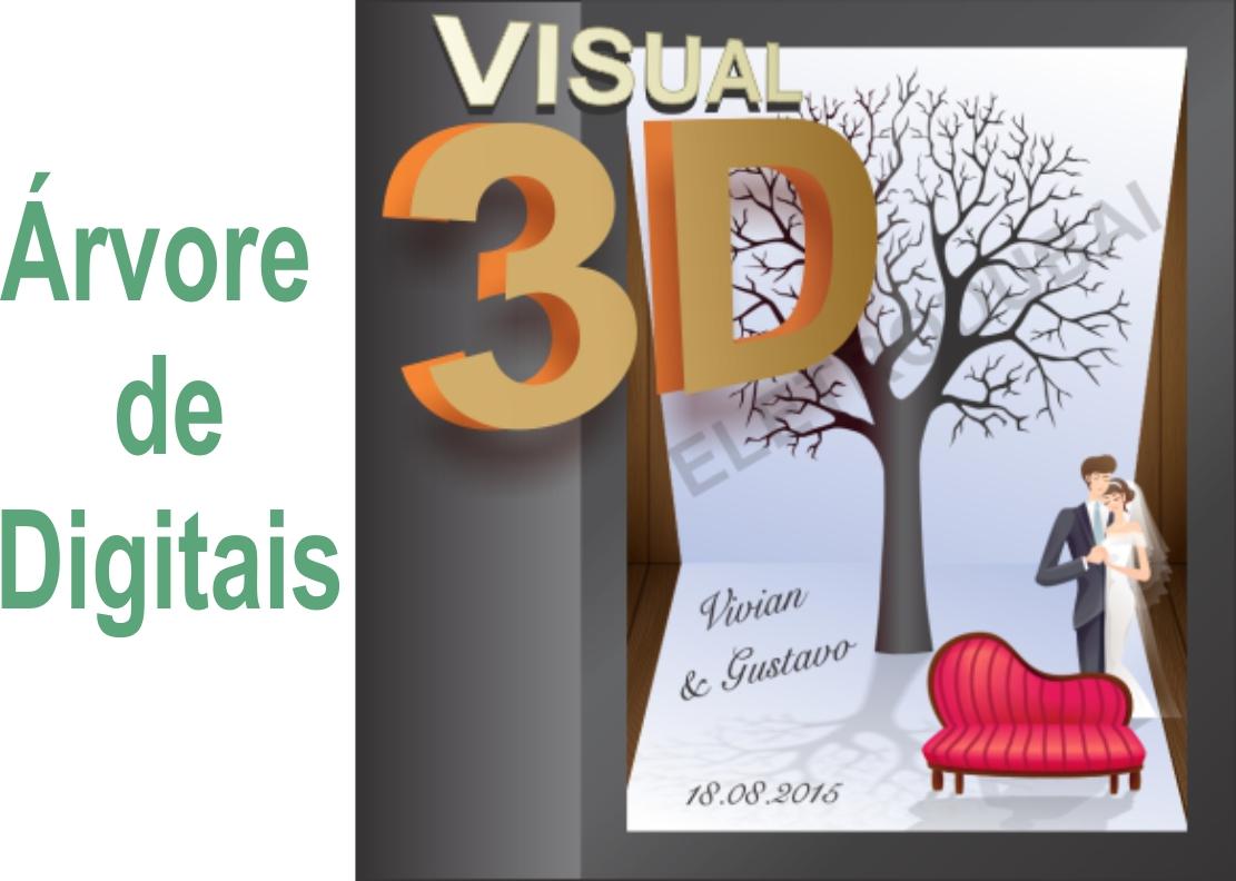 bb4d2cb59 Árvore de Digitais Casamento Aniversário 15 anos Festa e Eventos ...