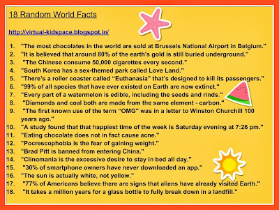 18 random world facts