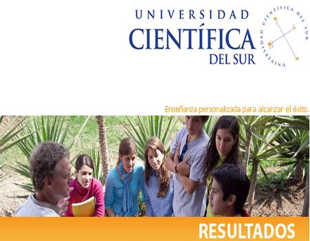 Resultados exámen admision UCSUR 2013
