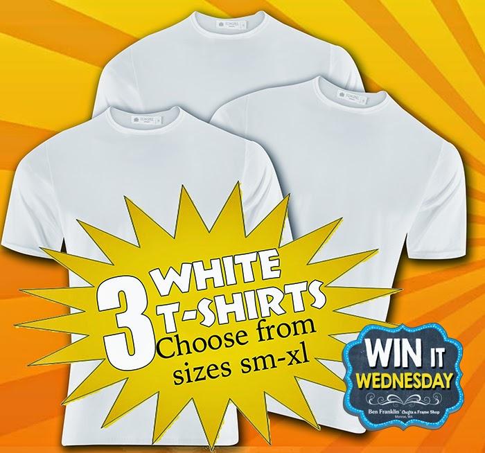 Win 3 white T-Shirts!