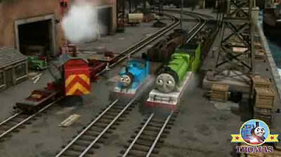 Breakdown crane Rocky Thomas the tank engine and Henry steam train engine on Sir Topham Hatt railway