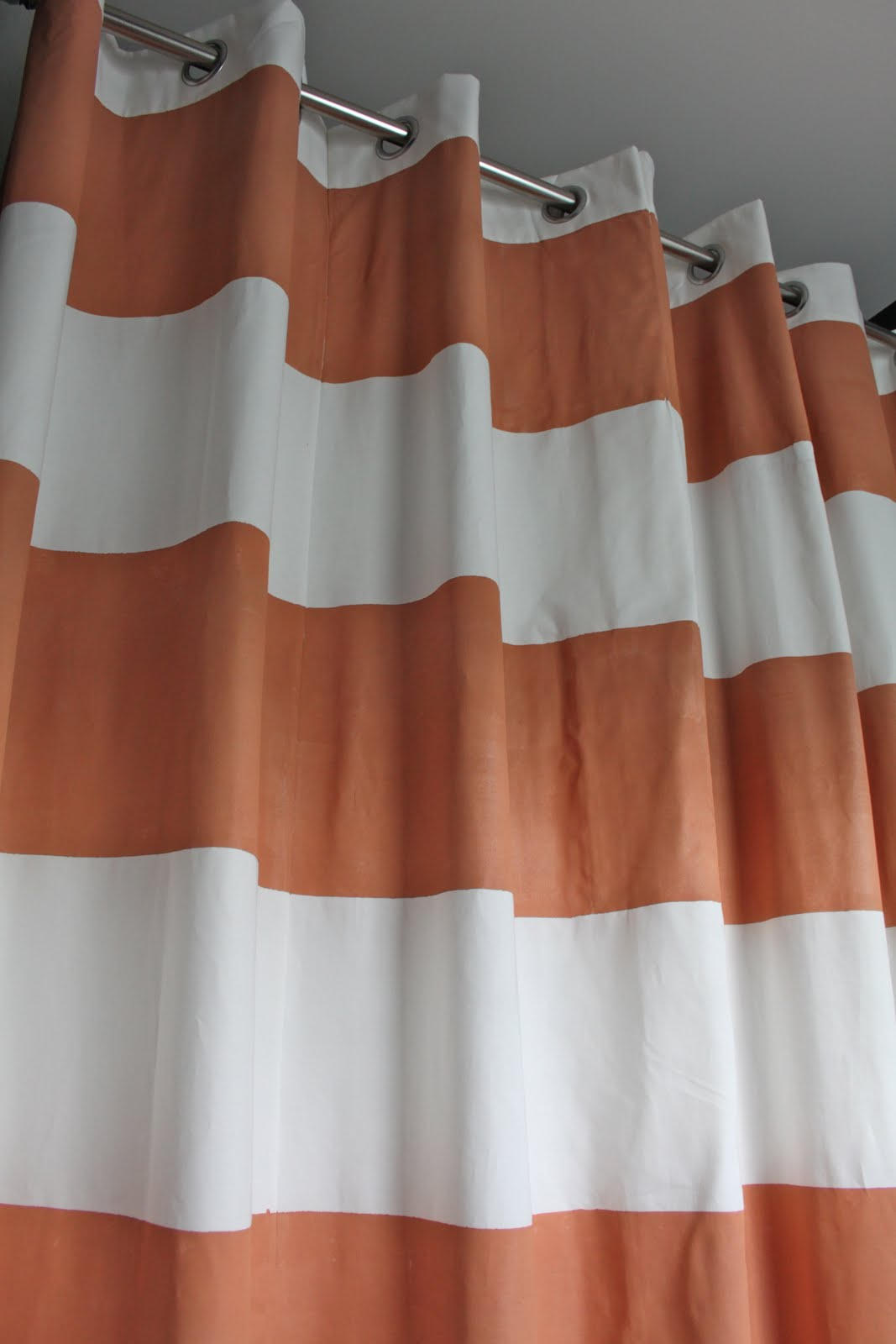 Coral curtains for sale - The Color Reads More Coral Than Terra Cotta In Person My Husband Says It S The Biggest Shower Curtain He S Ever Seen But I Love It