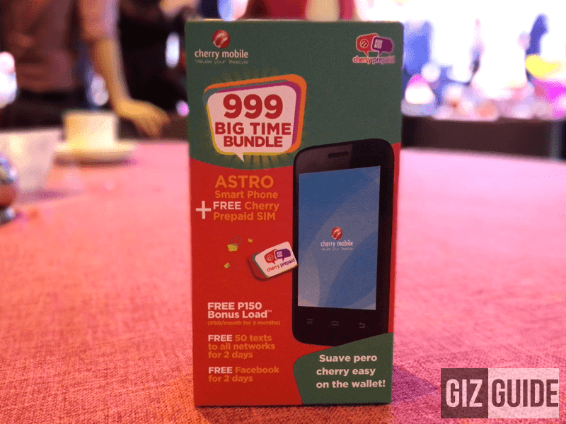 Cherry Mobile Astro To Arrive Soon, Comes With Free Cherry SIM And 150 Worth Of Load For 999 Pesos Only!