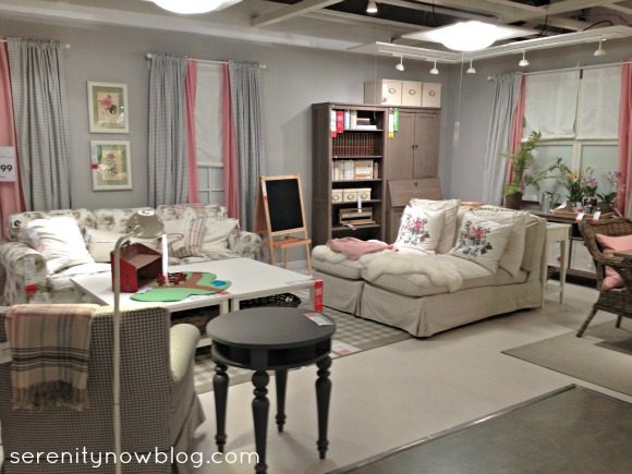Serenity now ikea shopping and home decor fall 2012 for Showroom living room ideas