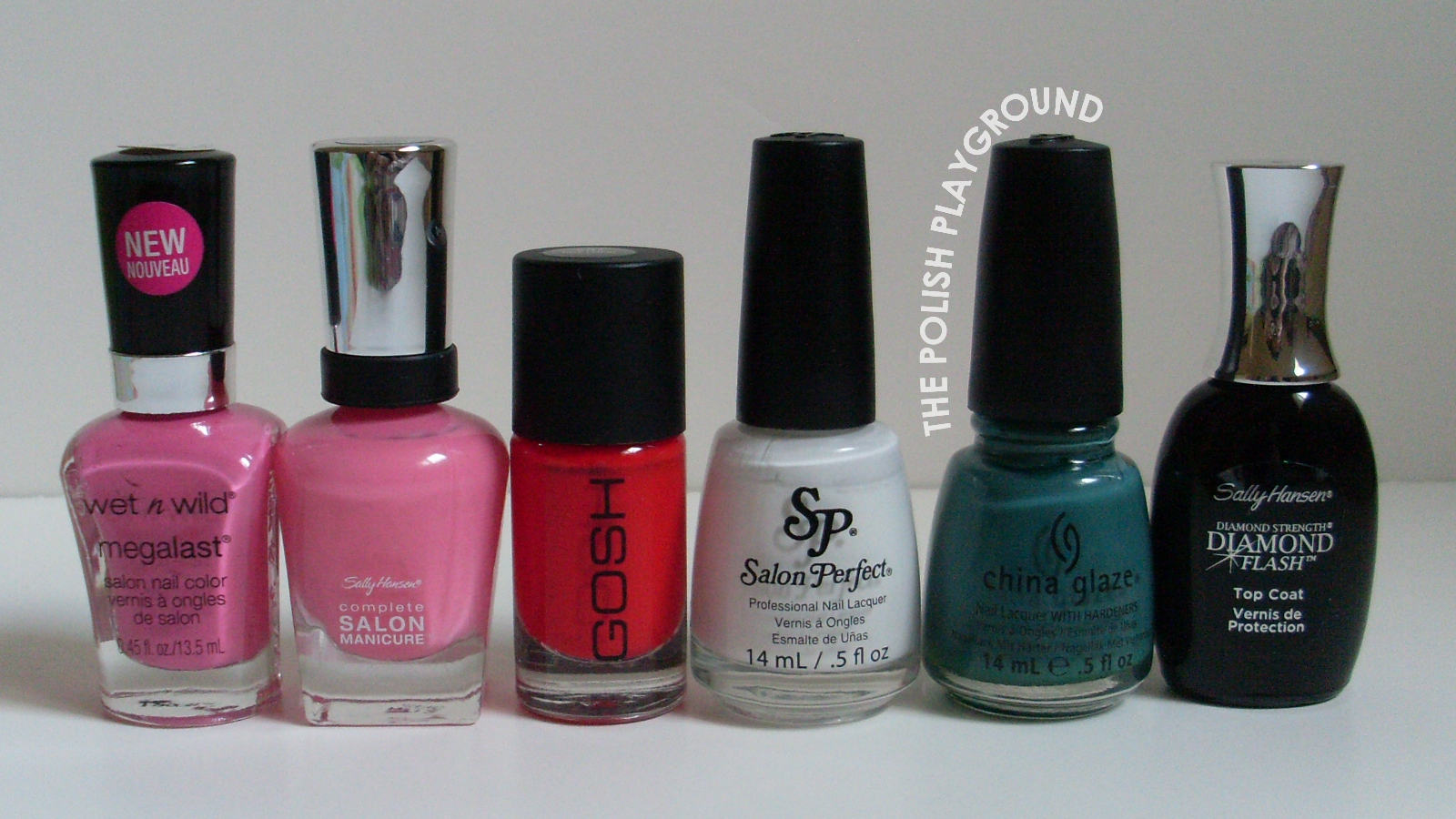 Wet n' Wild, Sally Hansen, Gosh, Salon Perfect, China Glaze