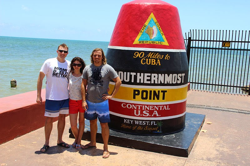 The southernmost point Key West