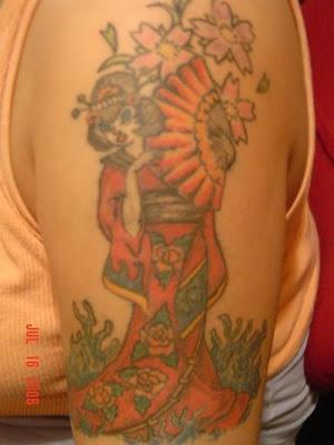 Men With Japanese Geisha TattoosMen With Japanese Geisha Tattoos