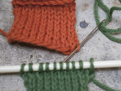Knitting Grafting Live Stitches : LiaKnits: Grafting Live Stitches to a Cast On