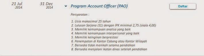 lowongan kerja bank bca karawang oktober 2014