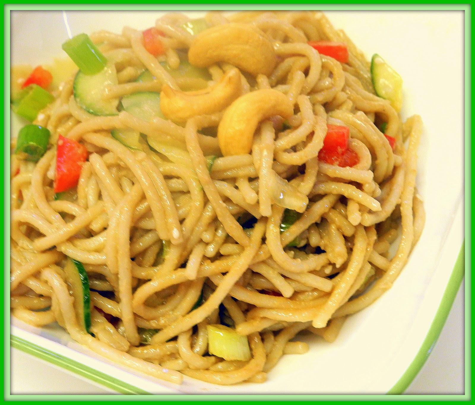 BIZZY BAKES: Vegetarian Noodle Salad