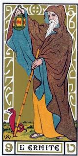 arcano tarot el hermitaño