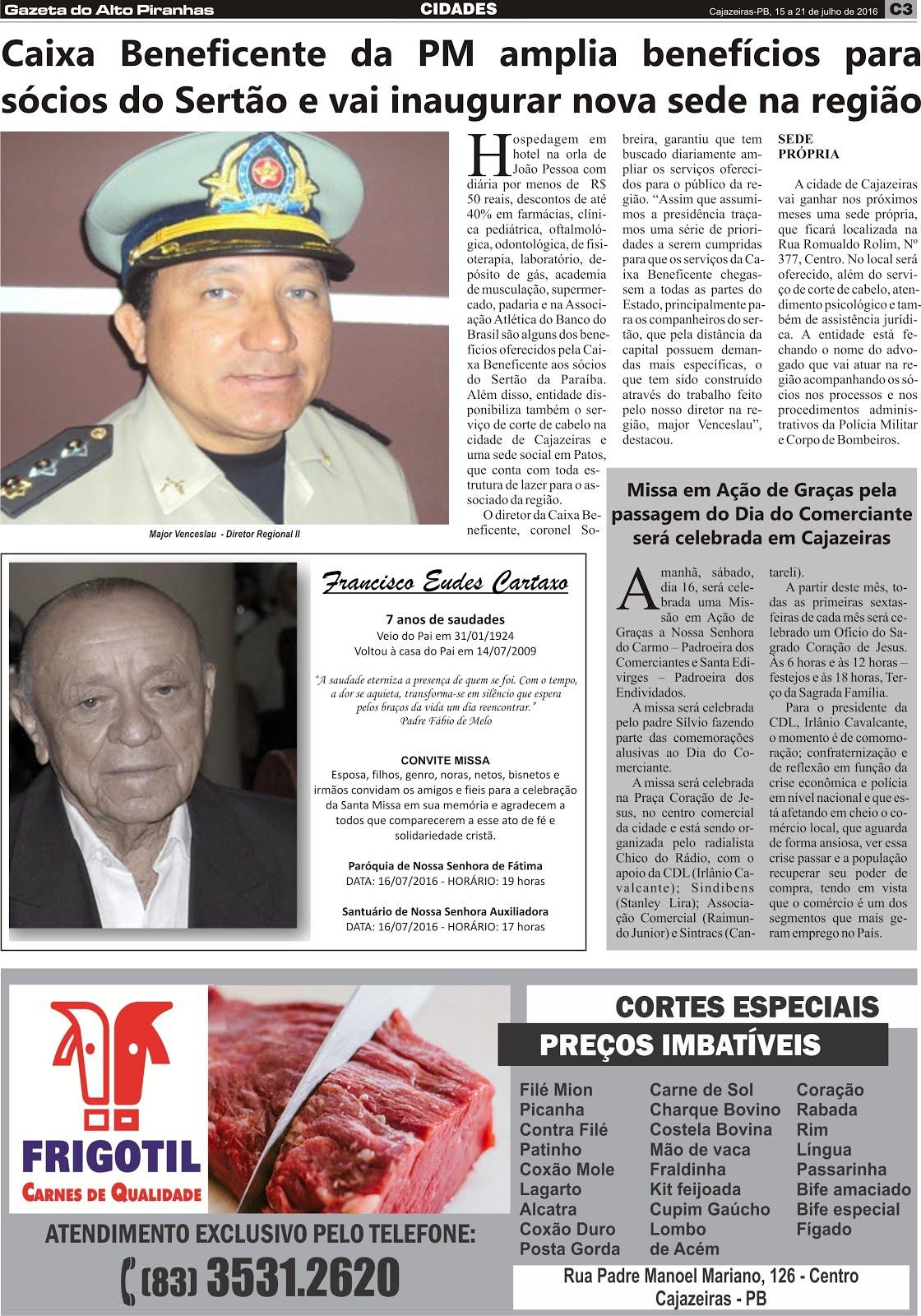 ATIVIDADES  DO JORNAL A GAZETA DO ALTO PIRANHAS  UM  SEMANÁRIO  PRIHCIPAL JORNAL DE NOSSA CIDADE