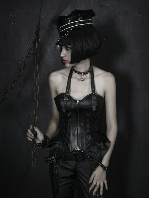 Sexy Black Gothic Punk Top for Women
