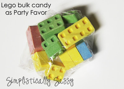 Lego Bulk Candy as Party Favors