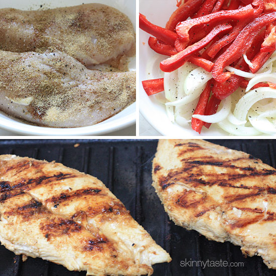 low fat chicken fajitas Skinny Chicken Fajitas