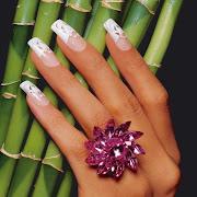 Las he pegado con pegamento para uñas de France Nails. diseã±o uã±as boda