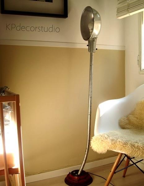 Lámpara de pie artesanal estilo industrial tipo loft. comprar online lampara suelo vintage