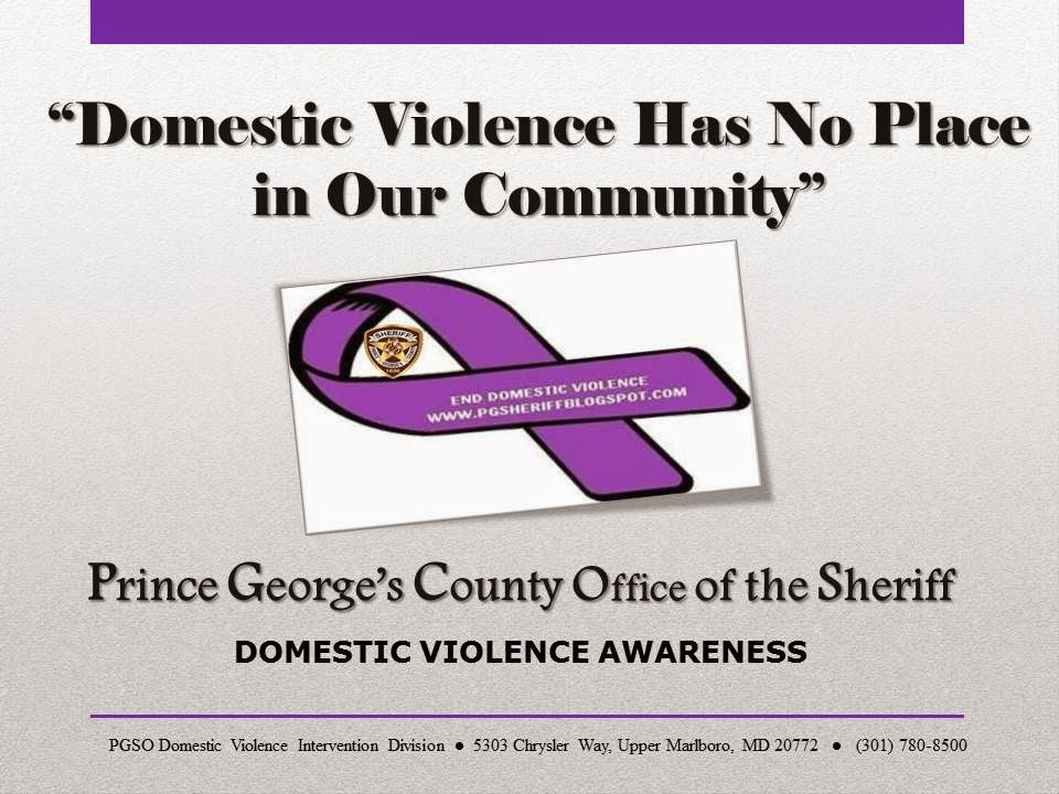 PGSO's Domestic Violence Schedule of Events    (Click  Photo)