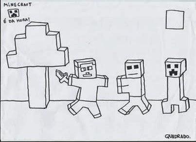 minecraft é da hora meu desenho do minecraft
