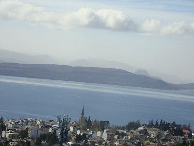 Vista de Bariloche do alto da cidade.