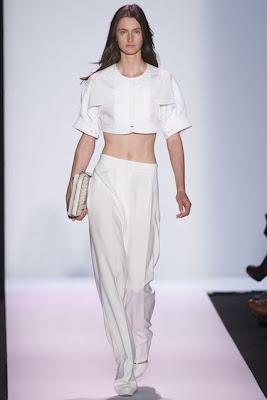 new york fashion week, spring summer 2014, ss 14, nyfw, bcbg max azria, crop top, white