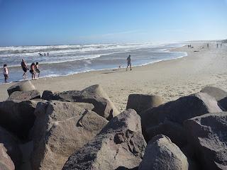 Vista de la playa de Barra del Chuy desde el Arroyo Chuy - Uruguay. Barra del chuy. Balnearios de Rocha