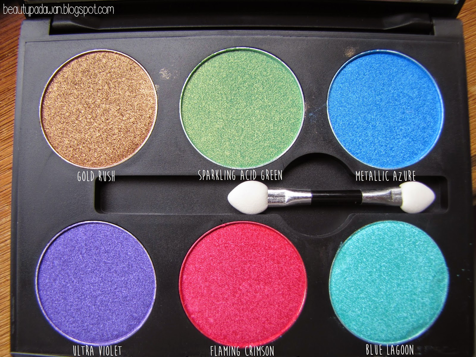 "Klara Cosmetics - ""Gold Rush"", ""Sparkling Acid Green"", ""Metallic Azure"", ""Ultra Violet"", ""Flaming Crimson"", ""Blue Lagoon"""