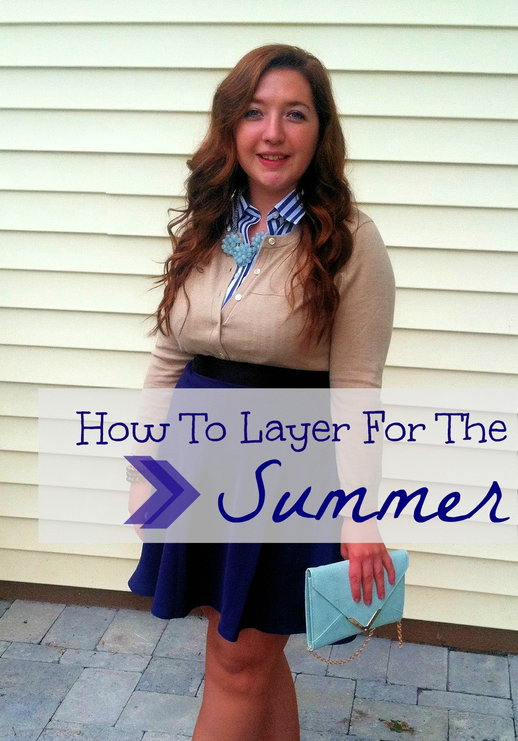 how-to-layer-for-the-summer, summer-layers, layering-for-summer, apt-9-beaded-flower-necklace-kohls, banana-republic-anna-cardigan-pebble, banana-republic-striped-sleeveless-no-iron-top