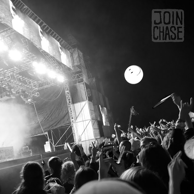 The crowd tosses a ball in the air at Global Gathering 2011 in Seoul, South Korea.